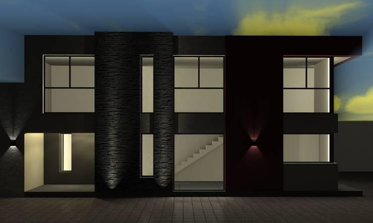 Alternativa 1 desde pasaje comunero. : Casas de estilo  por Juan Pablo Muttoni