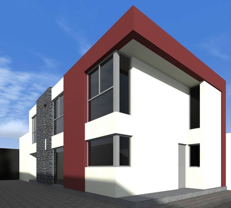 alternativa 1 desde fondo.: Casas de estilo  por Juan Pablo Muttoni