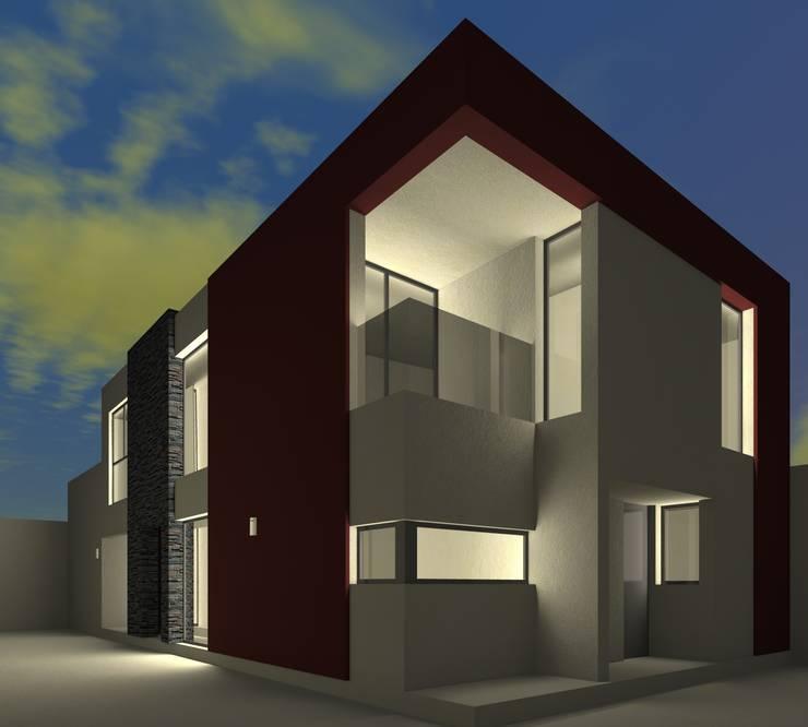 ALternativa 2 desde fondo.: Casas de estilo  por Juan Pablo Muttoni