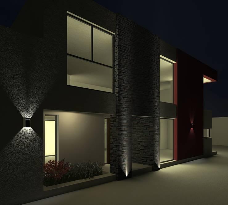 Alternativa 3 desde portón de ingreso. : Casas de estilo  por Juan Pablo Muttoni