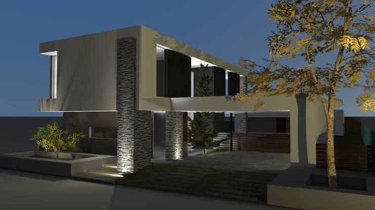 Fachada: Casas de estilo  por Juan Pablo Muttoni,Moderno Hormigón