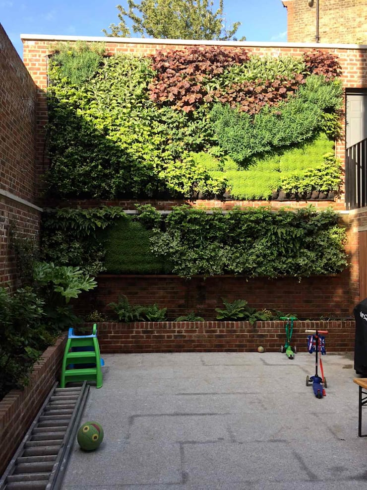 Living wall completed:   by Jane Harries Garden Designs