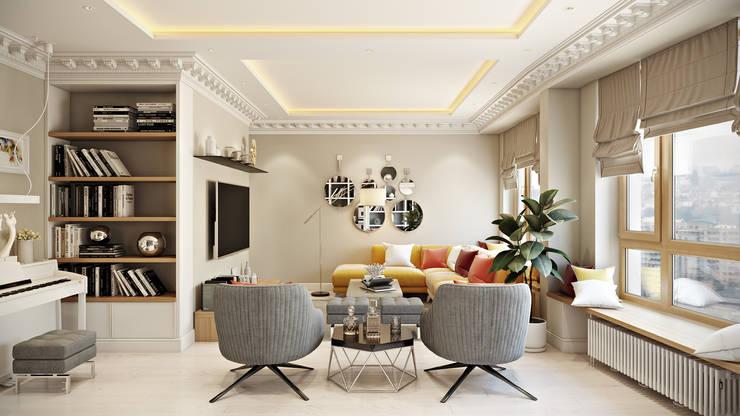 ЖК Риверсайд: Гостиная в . Автор – Дарья Баранович Дизайн Интерьера