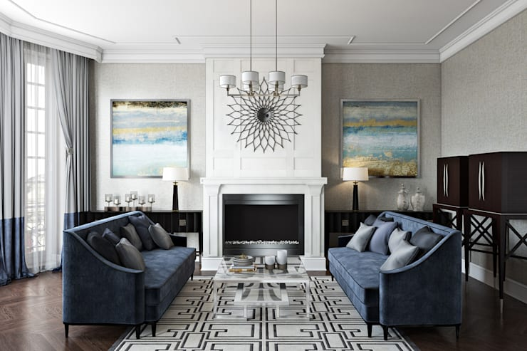 Living Room:  Living room by Hampstead Design Hub