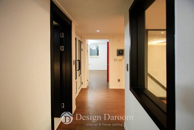 분당 중앙하이츠 빌리지 3차: Design Daroom 디자인다룸의  거실