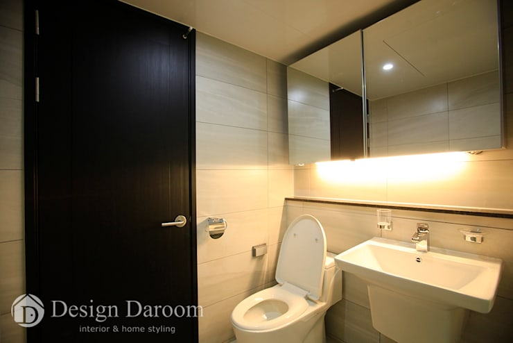 분당 중앙하이츠 빌리지 3차: Design Daroom 디자인다룸의  욕실