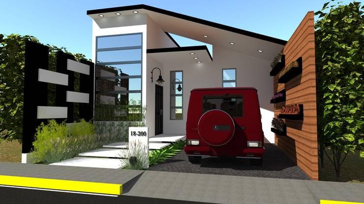 Vivienda Unifamiliar Milagro: Casas de estilo moderno por N.A. ARQUITECTURA