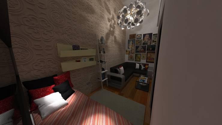 Vivienda Unifamiliar Milagro: Salas / recibidores de estilo moderno por N.A. ARQUITECTURA