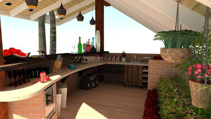 Terrasse de style  par N.A. ARQUITECTURA