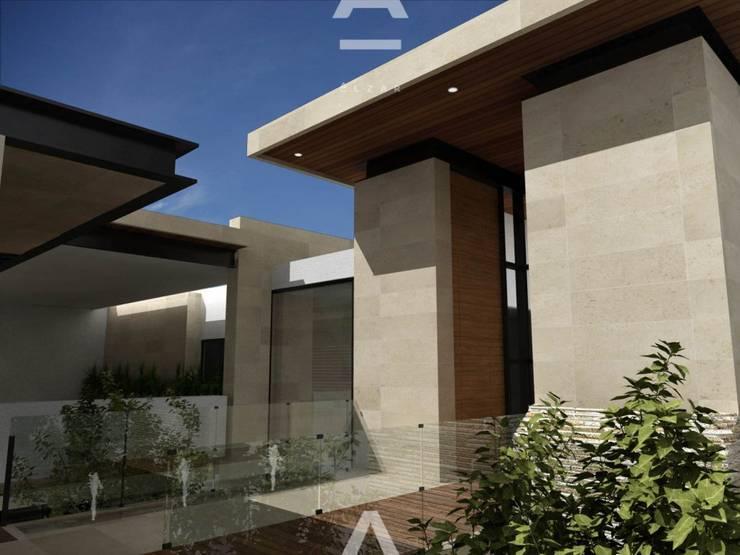 Veredalta: Casas de estilo moderno por Álzar
