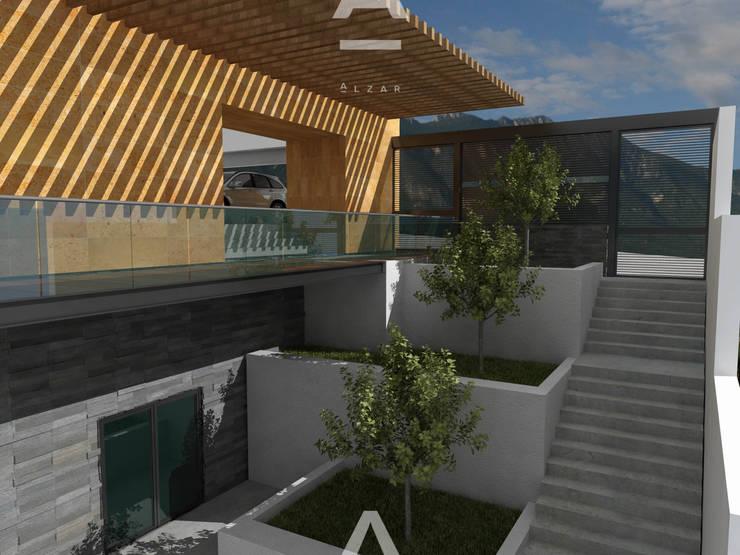 Ladera: Pasillos y recibidores de estilo  por Álzar