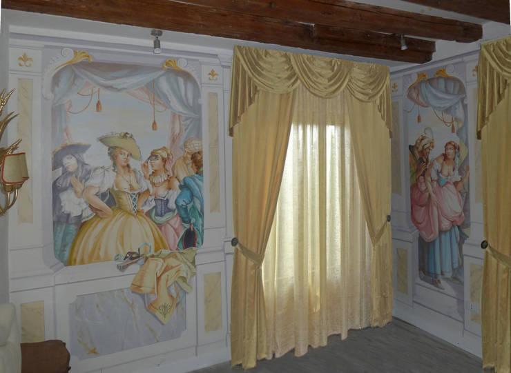 Decorazione di una stanza dalbergo di erica de rosa, dipinti ...