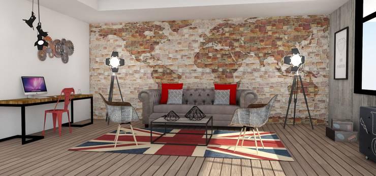 Sala Estudio :  de estilo  por Naromi  Design