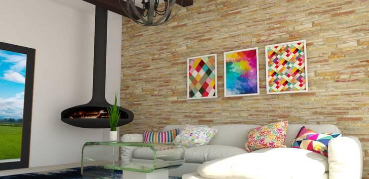 Sala :  de estilo  por Naromi  Design