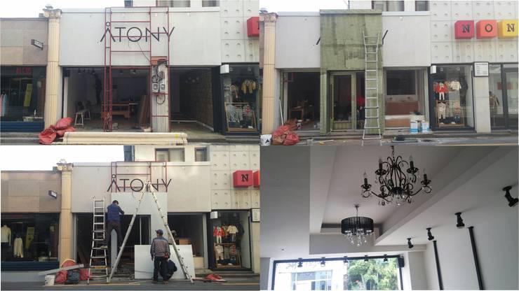 살롱 드 제이 HAIR SHOP: 더폼인테리어의  상업 공간