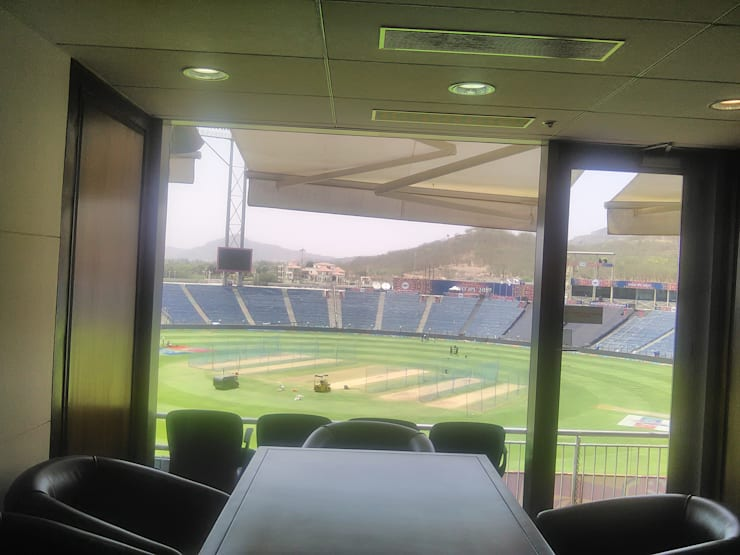 MCA Pune International Cricket Stadium at Gahunje:  Commercial Spaces by SK Interiors And Solutions,Modern Tiles