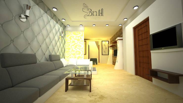 Residential-3BHK-2400sft:  Corridor & hallway by BNH DESIGNERS