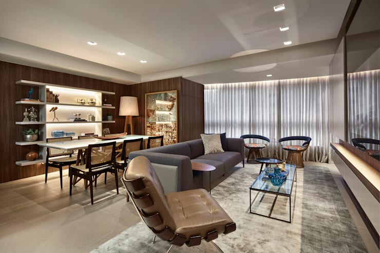 Living room by CLS ARQUITETURA