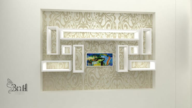 Residential Duplex Villa:  Bedroom by BNH DESIGNERS