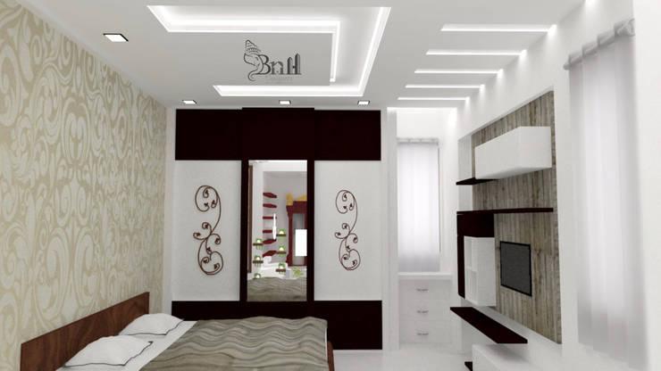 Residential Duplex Villa:  Bedroom by BNH DESIGNERS,Modern