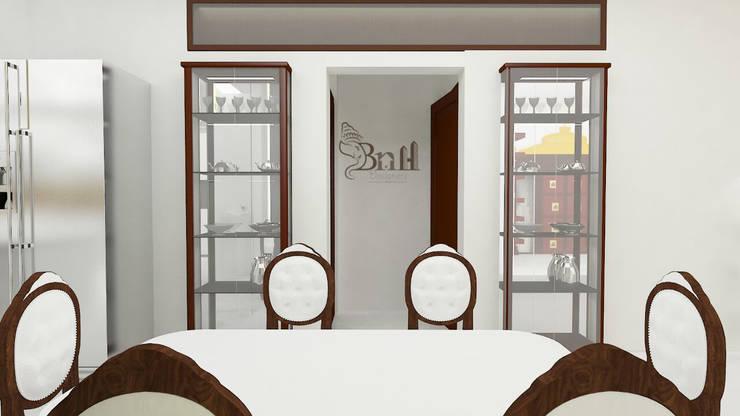 Residential Duplex Villa:  Dining room by BNH DESIGNERS,Modern