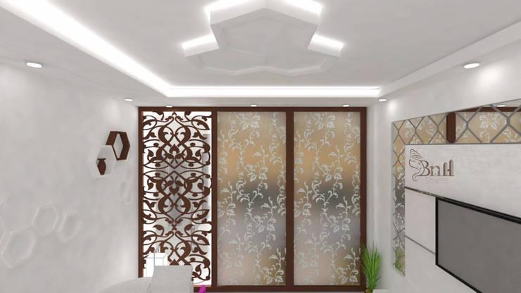 Residential Duplex Villa:  Living room by BNH DESIGNERS,Modern