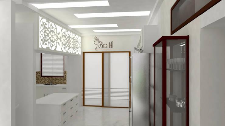 Residential Duplex Villa:  Kitchen by BNH DESIGNERS,Modern