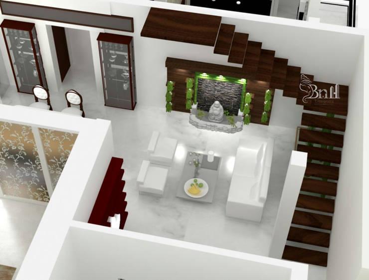 Residential Duplex Villa: modern Living room by BNH DESIGNERS
