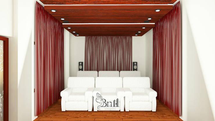 Residential Duplex Villa: modern Media room by BNH DESIGNERS