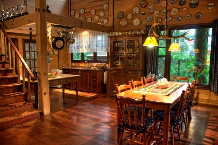 Столовые комнаты в . Автор – CABRAL Arquitetos