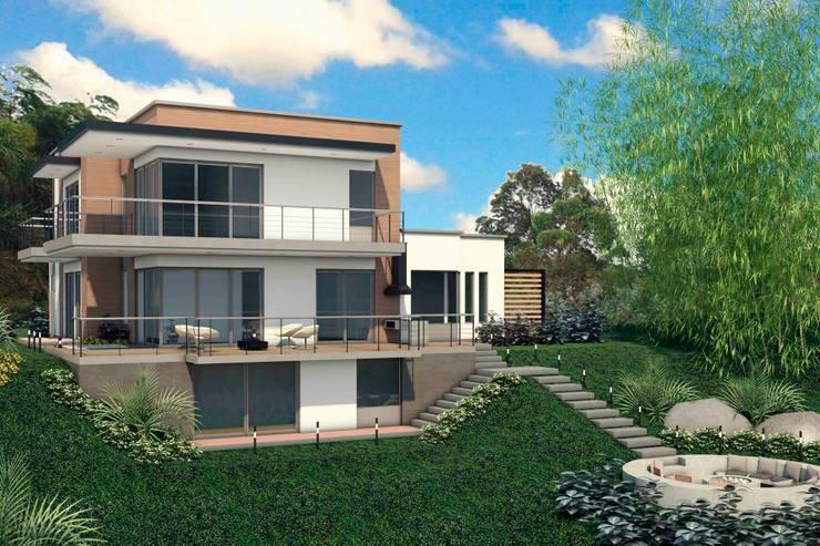 VIVIENDA QUIRAMA: Casas de estilo  por G2 ESTUDIO, Moderno Ladrillos