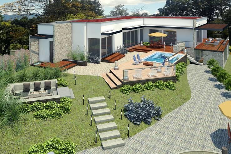 VIVIENDA SPA: Casas de estilo  por G2 ESTUDIO