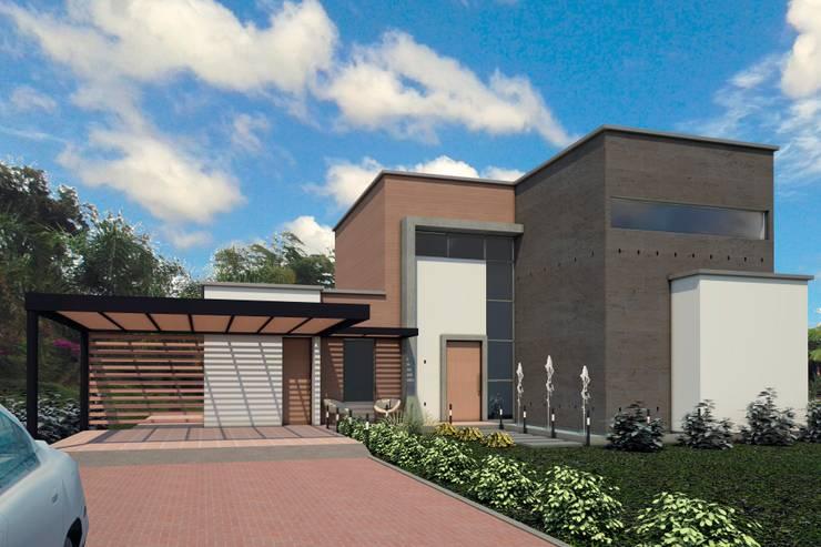Casas de estilo  por G2 ESTUDIO, Moderno Ladrillos