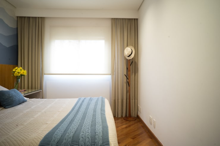 Bedroom by Lorenza Franceschi Arquitetura e Design de Interiores, Modern Wood Wood effect