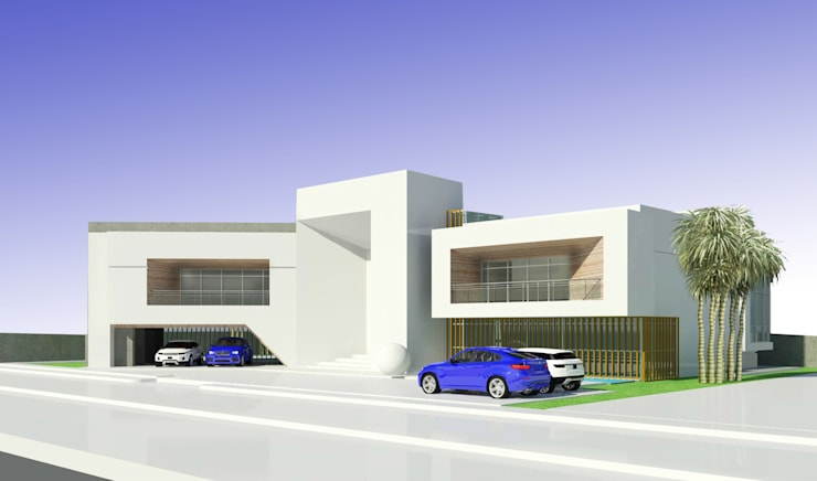 Road Side View:  Houses by Koncept Architects & Interior Designers,