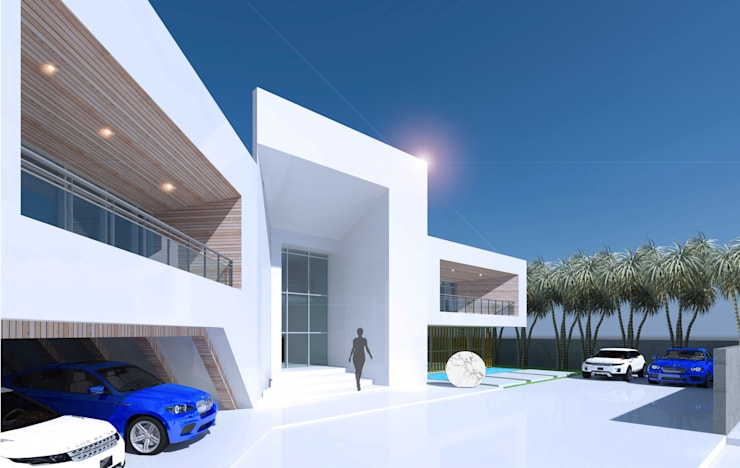 Front Side View:  Houses by Koncept Architects & Interior Designers,