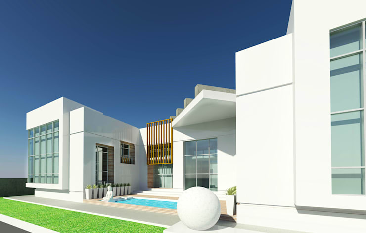 Rear Side View:  Houses by Koncept Architects & Interior Designers,