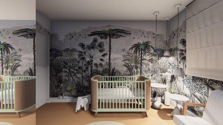 Apartamento Paraíso II – Zona Sul – São Paulo/SP: Quarto infantil  por Lorenza Franceschi Arquitetura e Design de Interiores