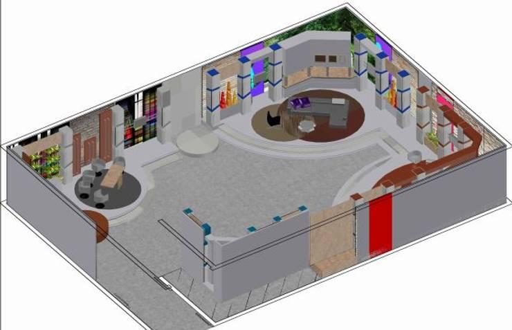Escenografías ubicadas en  360º: Salas de entretenimiento de estilo  por ERGOARQUITECTURAS FL C.A.
