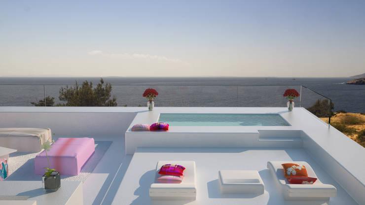 بلكونة أو شرفة تنفيذ Zucchero Architects
