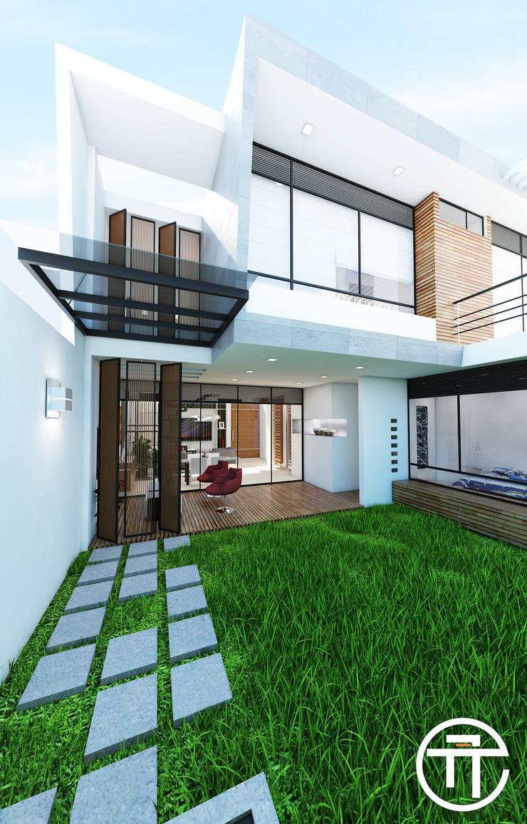Patio interior.:  de estilo  por Attica Arquitectura