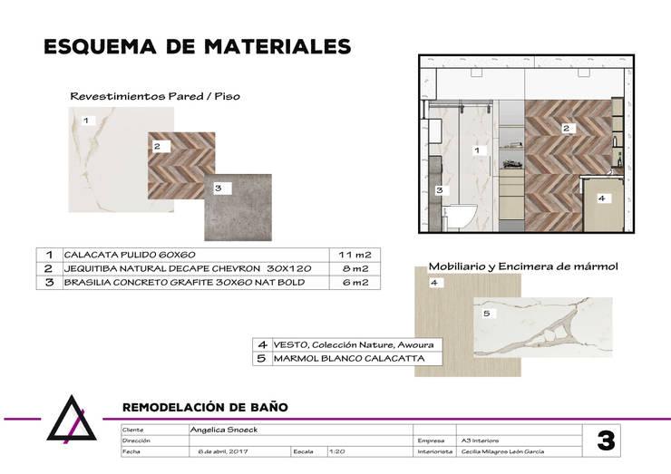Remodelación de Baño Principal de A3 Interiors