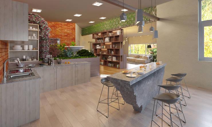 modern Kitchen by Anastasia Yakovleva design studio