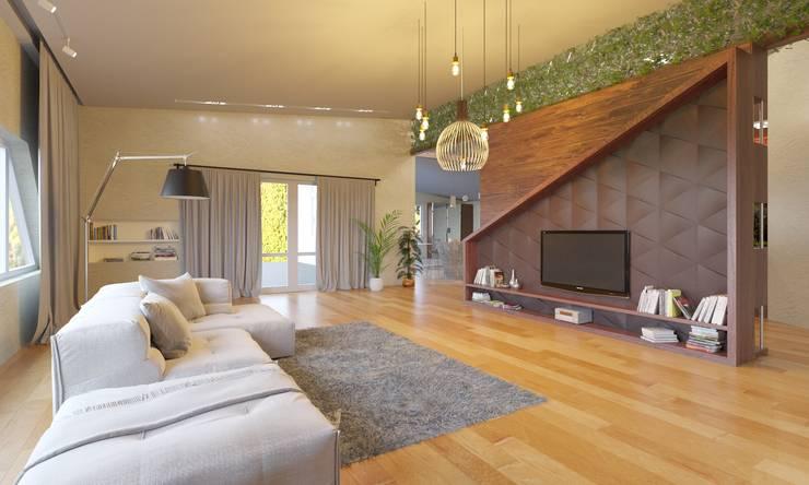 Living room by Anastasia Yakovleva design studio