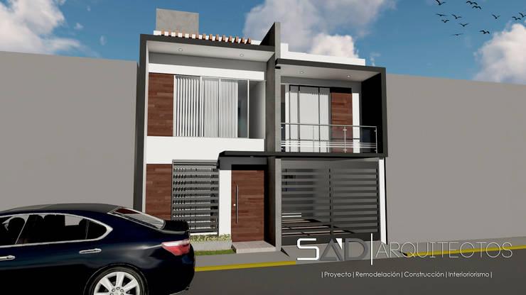Fachada Princial: Casas de estilo moderno por Studio Arch'D Arquitectos