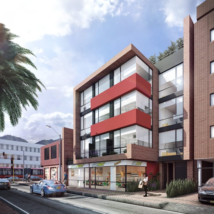 Casas de estilo  por CONSTRUCCIONES 2AM S.A.S.
