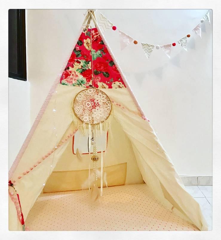 Teepee para habitación niña: Habitaciones infantiles de estilo  por CONSTRUCCIONES 2AM S.A.S.