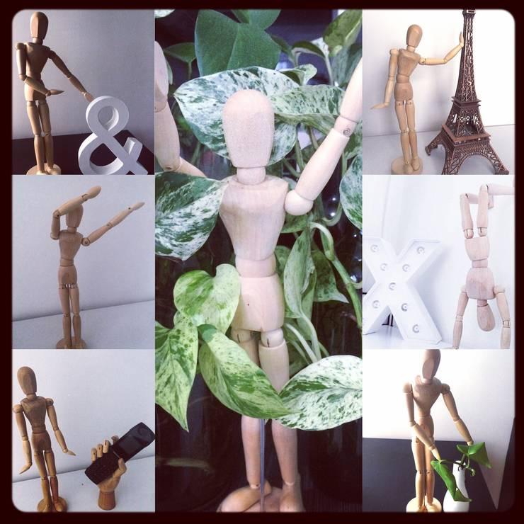 Hombre de madera : Hogar de estilo  por CONSTRUCCIONES 2AM S.A.S.