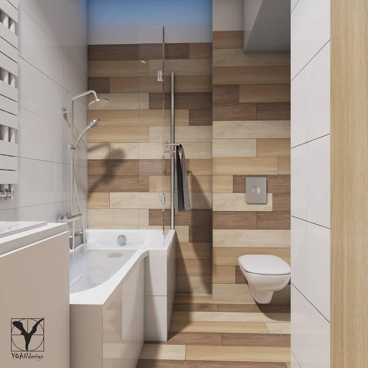 modern Bathroom by YOANdesign Joanna Glinkowska-Garwicka