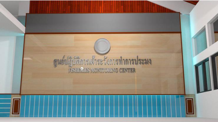 ออกแบบ ตกแต่ง ภายใน อาคารวิจัยการประมงน้ำจืดเก่า     มหาวิยาลัยเกษตรศาสตร์       ศูนปฎิบัติการเฝ้าระวังการทำการประมง:  ห้องสันทนาการ by mayartstyle